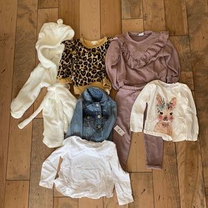 Excellent lot NEW girls clothing Zara JCRew 2-3